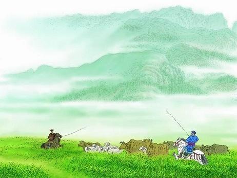 《敕勒歌》北朝民歌原文注释翻译赏析 9 33