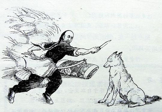 《狼三则》蒲松龄文言文原文注释翻译