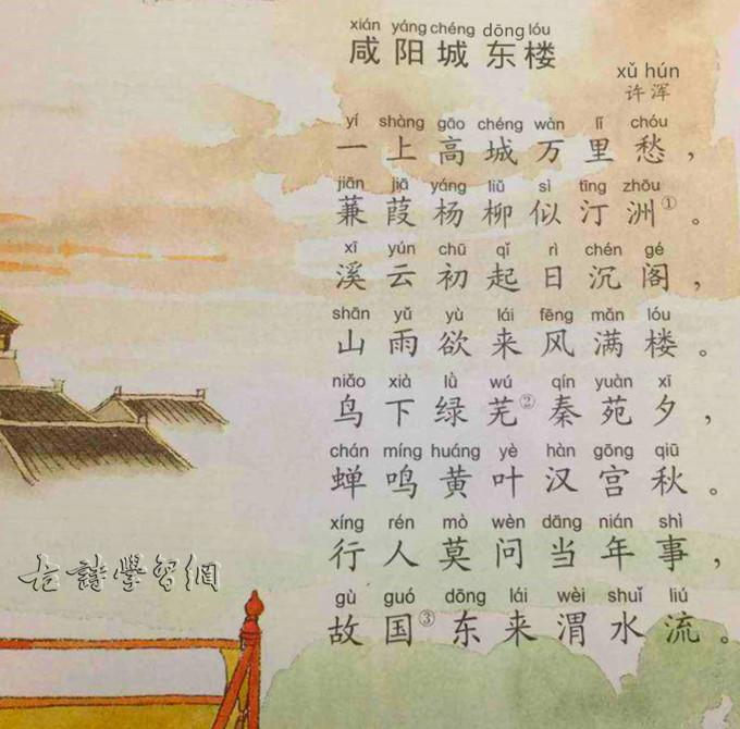 《咸阳城东楼》许浑唐诗注释翻译赏析 3 5